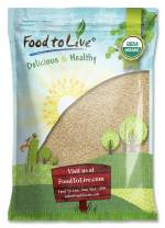 Food To Live Certified Organic Sesame Seeds (Raw, Hulled, Kosher) (8 Pounds)