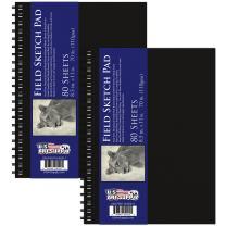 "U.S. Art Supply 8.5"" x 11"" Premium Hardbound Sketch Book, 70 Pound (110gsm), Book of 80-Sheets (Pack of 2 Sketchbooks)"