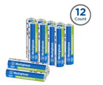 Westinghouse Rechargeable Battery, high Capacity 1000mAh NH Rechargeable Battery, 1 Year Low self Discharge (AAA, 12 Counts)