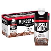 Muscle Milk Genuine Protein Shake, Chocolate, 25g Protein, 11 Fl Oz, 12 Pack