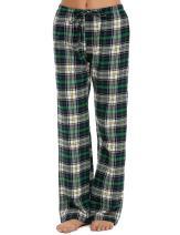 Ekouaer Lounge Bottoms Women Cotton Tall Pajama Pants Plus Size Lingerie (Green, XXL)