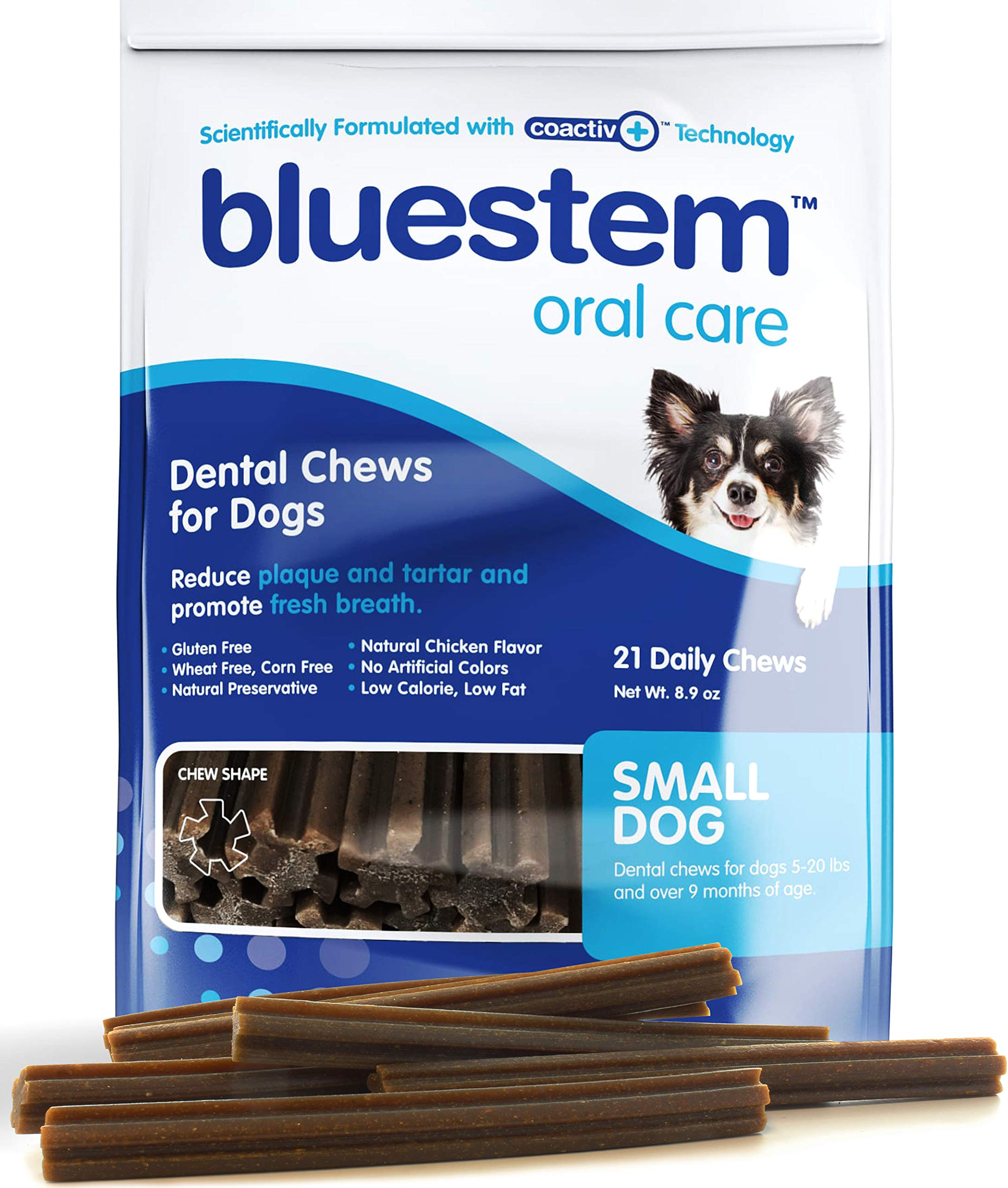Dog Dental Chews: Rawhide Free Treat Teeth Cleaning Sticks for ALL Breed of Small, Medium, Large Dogs. Mini Brushing Chew Stick Treats Plaque Tartar & Bad Breath. Healthy Pet Food Supplies MADE IN USA