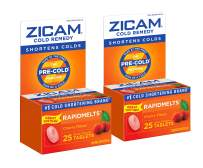 Zicam Cold Remedy Rapidmelts, Cherry Flavor, 25 Quick-Dissolve Tablets, 25 Count (Pack of 2)