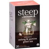 steep by Bigelow Organic Oolong and Jasmine Green Tea, 20 Count (Pack of 6), 120 Tea Bags Total