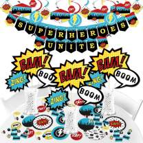 Big Dot of Happiness Bam Superhero - Baby Shower or Birthday Party Supplies - Banner Decoration Kit - Fundle Bundle
