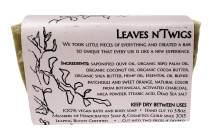 WFG WATERFALL GLEN SOAP COMPANY, LLC, Leaves n'Twigs bath soap, patchouli & sweet orange, random pattern with shea butter 5.8oz.