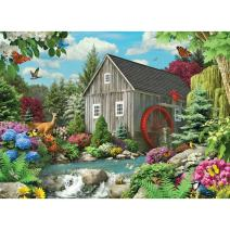 Bits and Pieces - 1500 Piece Jigsaw Puzzle - Country Mill - Wildlife Stream Puzzle - by Artist Alan Giana - 1500 pc Jigsaw
