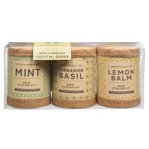 Modern Sprout Seed Starter Kit - Cocktail Series - Mint/Cinnamon Basil/Lemon Balm