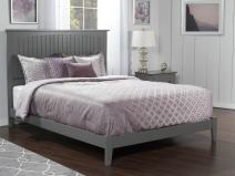 Atlantic Furniture Nantucket Traditional Bed, King, Grey