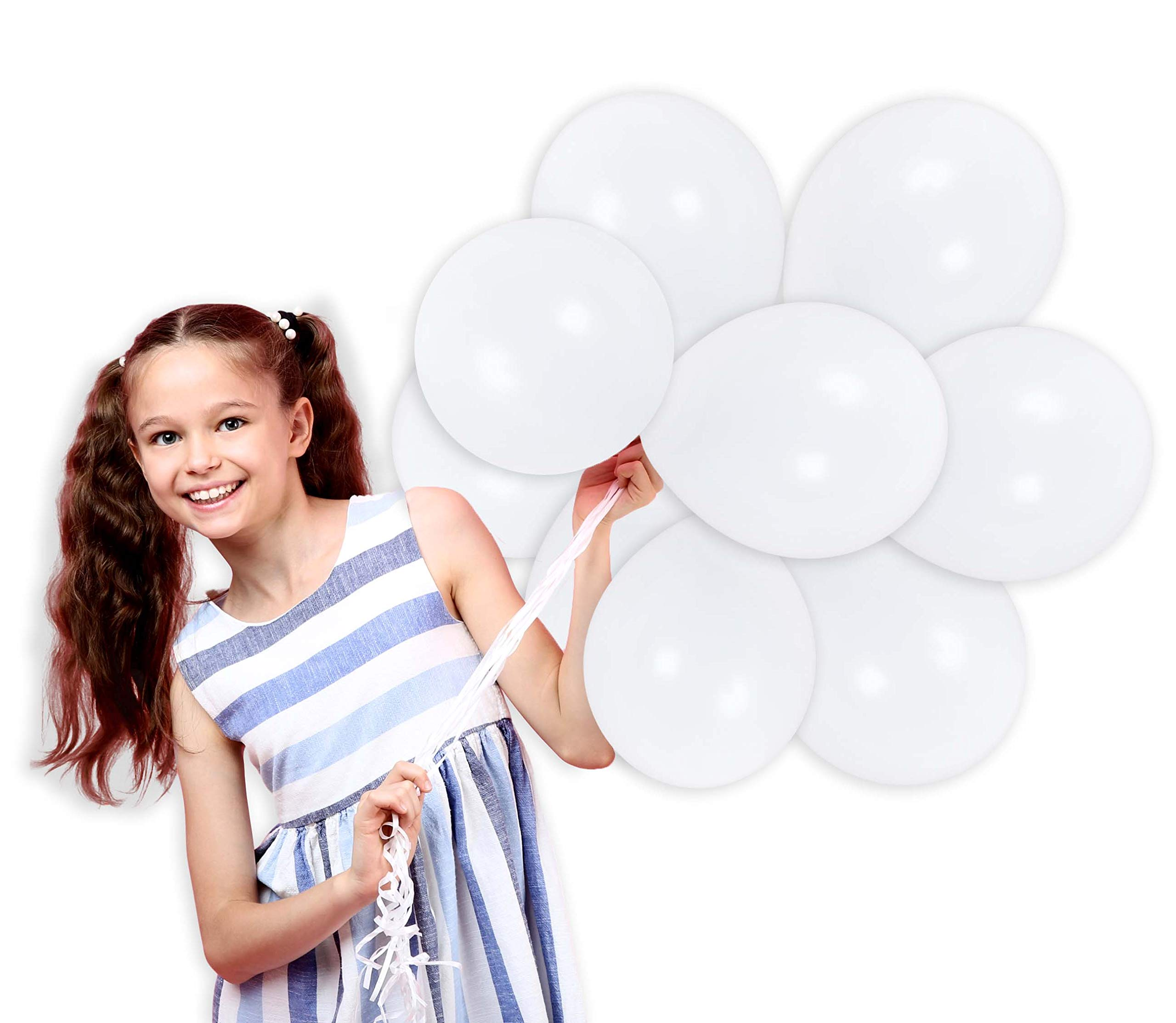 Treasures Gifted White Solid Latex Balloons 12 Inch 36 Pack Premium Quality Bouquet Wedding Bridal Shower Decorations for Birthday Baby Shower Party St. Patrick's Day Party Supplies
