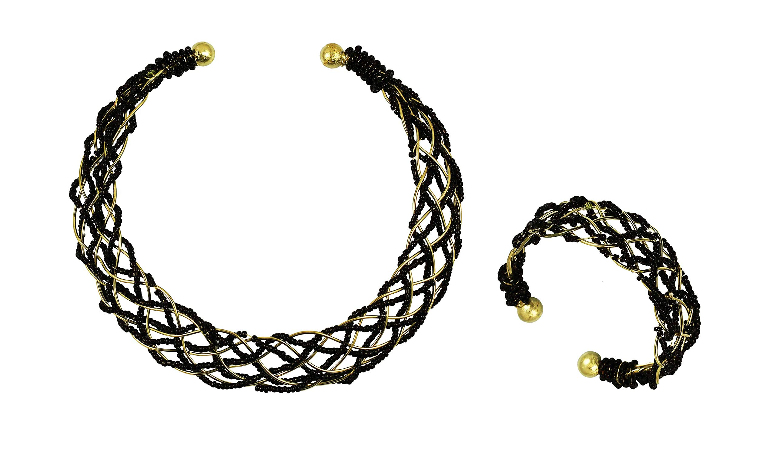 Touchstone Indian Bollywood Elegant Choker Torque Hasli Necklace Designer Jewelry for Women