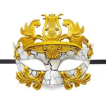 BAWASEEHI Mens Masquerade Mask Greek Roman Party Mask Mardi Gras Carnival Halloween Mask