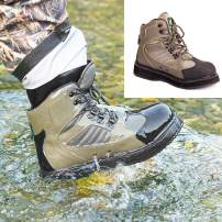NEYGU Men&Women Breathable Quick-Dry Wading Shoes for Fishing and Hunting with Felt Sole or Rubber Sole, Used for Neoprene Stocking Foot Wader