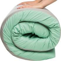 Hazli Most Comfortable Memory Foam Floor Mattress - [Twin, Single, Small] - Roll Out, Waterproof Cotton Portable Sleeping Pad - Portable Bed Foam Camping Mattress Pad
