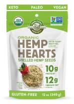 Manitoba Harvest Organic Hemp Hearts Shelled Hemp Seeds, 12 Ounce (Pack of 1); with 10g Protein & 12g Omegas per Serving, Non-GMO, Gluten Free