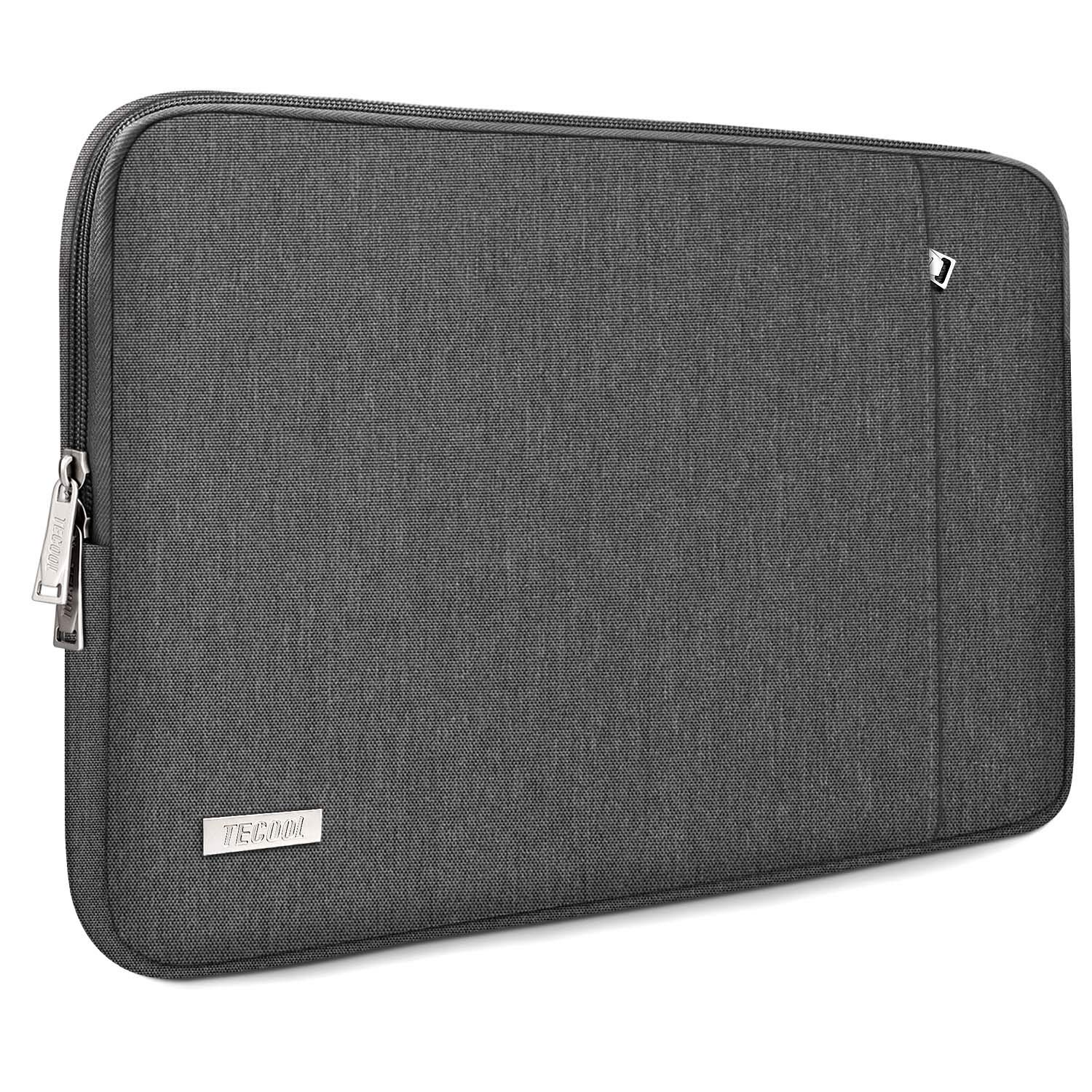 """TECOOL 13.3-13.5 Inch Laptop Sleeve Protective Case Cover with Front Pocket for 13.5"""" Surface Laptop 3/2, MacBook Air/Pro 13, 13.3""""-14"""" Ultrabook Chromebook Computer Bag Water Repellent, Dark Gray"""