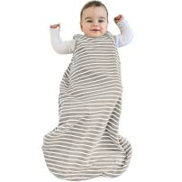 Baby Sleeping Bag, 4 Season Basic Merino Wool Wearable Blanket, 0-6 Months, Earth