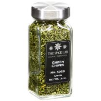 The Spice Lab - Chopped Dried Green Chives / Dehydrated - All Natural Kosher Non GMO Gluten Free Spice Green Onion - French Jar