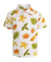 Unique Baby Boys Everyday Fun Seasonal Print Polo Shirts Short Sleeve Collared T