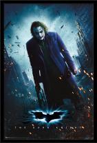 "Trends International DC Comics Movie - The Dark Knight - The Joker - One Sheet, 22.375"" x 34"", Black Framed Version"