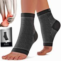 Plantar Fasciitis Socks (Pair) - 24/7 Arch Support Ankle Support Sleeves for Pain Relief - Foot Compression Sleeves - Heel Braces