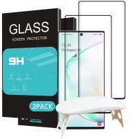 HOMEMO Screen Protector for Galaxy Note 10 Plus 2 Pack Tempered Glass 6.8 inch with UV Light Advanced HD Clarity Work Most Case