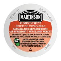 Martinson Single Serve Coffee Capsules, Pumpkin Spice, Compatible with Keurig K-Cup Brewers, 24 Count