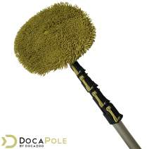 DocaPole 7-30 Foot Wall Duster Extension Pole | Chenille Microfiber Cleaning Head | For Use by Hand or with an Telescopic Pole | High Reach Duster for Walls and High Ceilings | Washable Cleaning Cloth