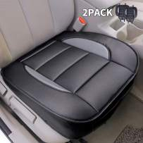 Leader Accessories Edge Wrapping 2 pcs Car Seat Cushion Auto Interior PU Leather Universal Bottom Driver Covers for Car