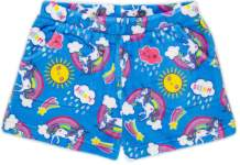 Candy Pink Girls Plush Pajama Shorts