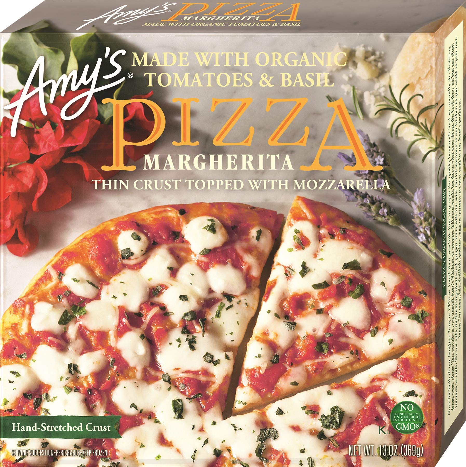 Amy's Organic Frozen Margherita Pizza, Hand-Stretched Crust, Full Size