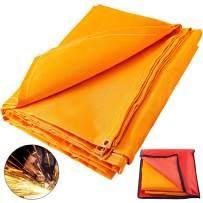 Mophorn 8 x 10 Ft Welding Blankets Orange Fiberglass Blanket Portable Fiberglass Fire Retardant Blanket Welding Mat Welding Fireproof Thermal Resistant Insulation With Carry Bag