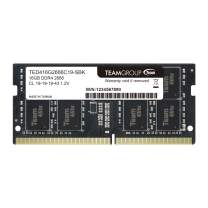 TEAMGROUP Elite DDR4 16GB Single 2666MHz (PC4-21300) CL19 Unbuffered Non-ECC 1.2V SODIMM 260-Pin Laptop Notebook PC Computer Memory Module Ram Upgrade - TED416G2666C19-S01 - (1x16GB) Single