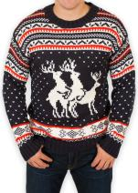 Festified Ugly Christmas Sweater - Reindeer Threesome Sweater
