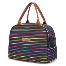 LOKASS Lunch Bag Cooler Bag Women Tote Bag Insulated Lunch Box Water-resistant Thermal Lunch Bag Soft Liner Lunch Bags for women/Picnic/Boating/Beach/Fishing/Work (rainbow)