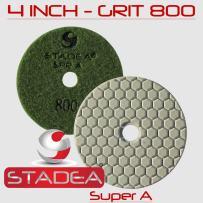 """STADEA 4"""" dry diamond Marble polishing pads for granite Concrete Stone Marble Polishing : 2 pcs Set Grit 800"""