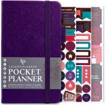 """Legend Planner Pocket - Small Monthly & Weekly Goal Journal and Calendar for Productivity, Mini Life Organizer Planner Perfect for Purse, Size: 3.5"""" x 6.2"""" Hardcover, Undated - Dark Purple"""