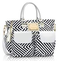 Fashion Chevron Diaper Bag Large Tote with Changing Pad with Stroller Straps