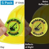 """SmartSign""""Certified Rigger"""" Pack of 5 Hard Hat Labels 