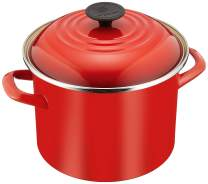 Le Creuset Enamel-on-Steel 6-Quart Covered Stockpot, Cerise (Cherry Red)