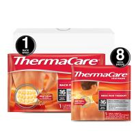 ThermaCare Advanced Neck and Back Pain (L-XL Size) Combo Pack (8 Neck and Back Wrap) Set, Back & Neck Pain 9 Piece Set