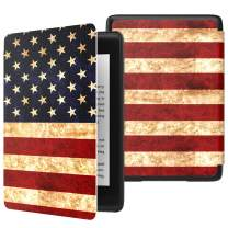 MoKo Case Fits Kindle Paperwhite (10th Generation, 2018 Release), Thinnest Lightest Smart Shell Cover with Auto Wake/Sleep for Amazon Kindle Paperwhite 2018 E-Reader - American Flag