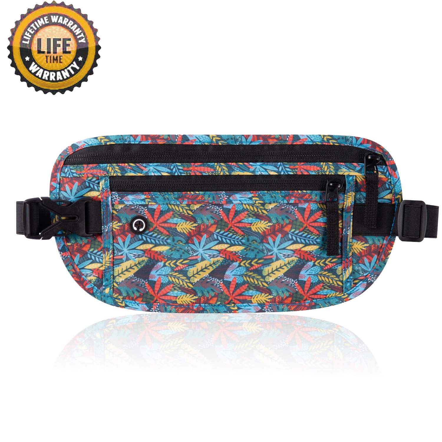 Goothdurs Travel Fanny Pack Money Belt Travel Wallet for Women and Men with RFID Blocking Slim Waist Bag (2020 New Model)