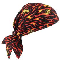 Ergodyne Chill-Its 6710 Evaporative Polymer Cooling Dew Rag, Flames