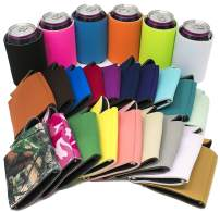 TahoeBay 25 Blank Beer Can Coolers, Plain Bulk Collapsible Soda Cover Coolies, DIY Personalized Sublimation Sleeves for Weddings, Bachelorette Parties, Funny HTV Party Favors (Multicolor, 25)