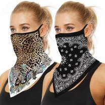 Bandanas for Women Men, Washable Cloth Neck Gaiters Cool Face Scarf Rave Covers