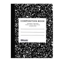 BAZIC College Ruled 100 Sheet Black Marble Composition Book, Journal Comp Books Paper Notebook, Classic Black Marble Cover, for Office Student Class