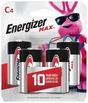 Energizer Max C Batteries, Premium Alkaline, 4 Ct,  Packaging May Vary