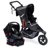 BOB Gear Revolution Flex 3.0 Jogger Travel System with B-Safe 35 Infant Car Seat, Graphite Black [New Logo] (S12044800)