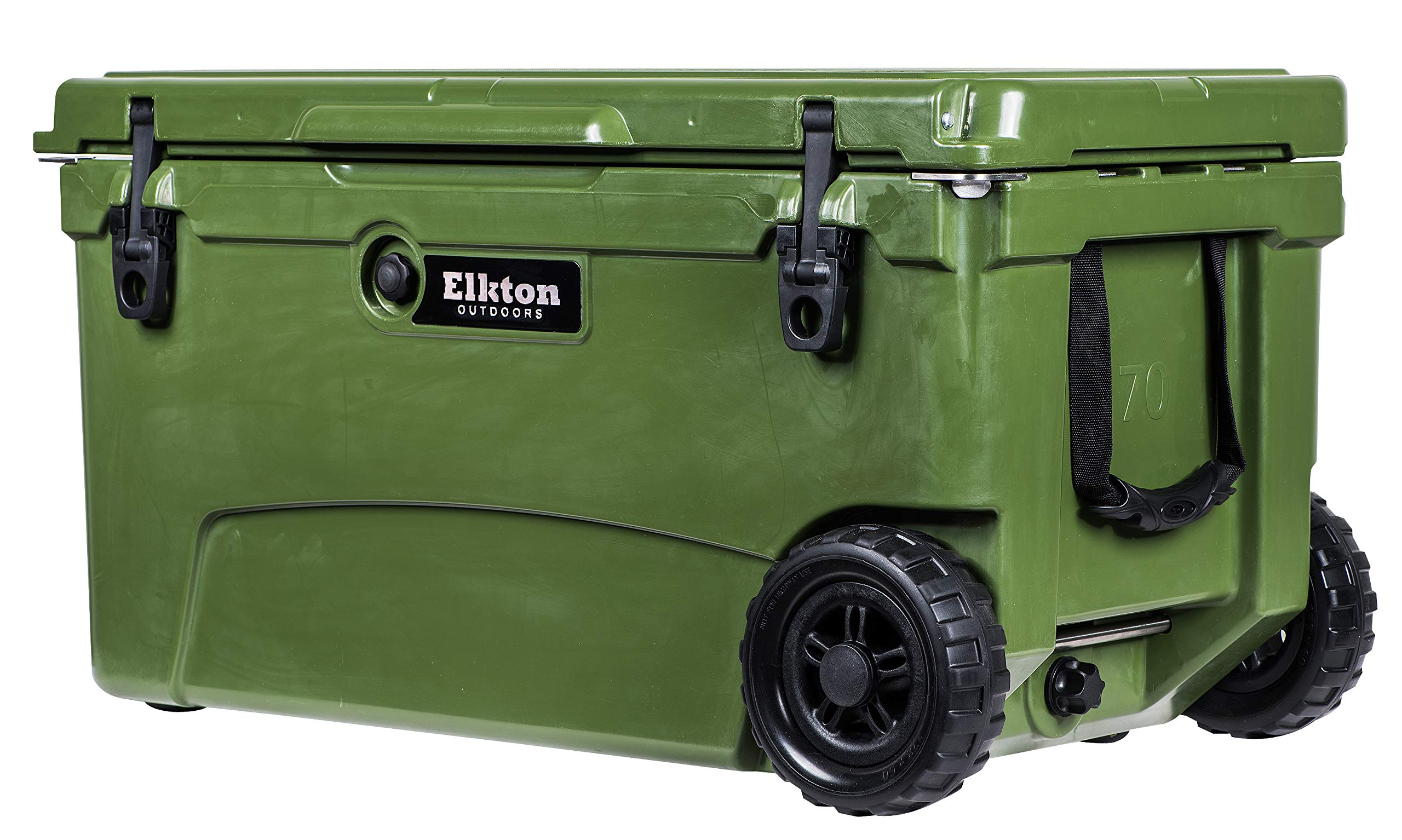 Elkton Outdoors Ice Chest. Heavy Duty, High Performance Roto-Molded Commercial Grade Insulated Cooler, 70-Quart
